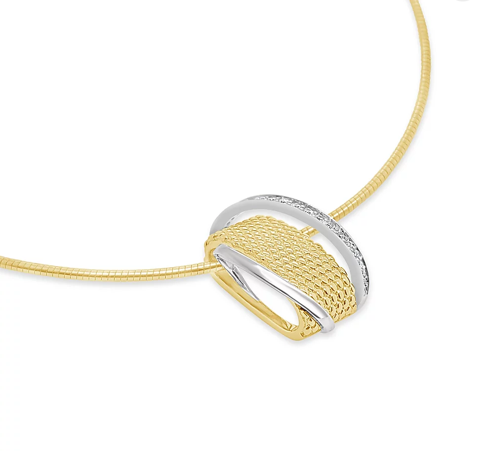 Breuning Fashion Yellow Gold and Diamond Pendant