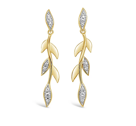 Breuning Branch White Sapphire Earrings