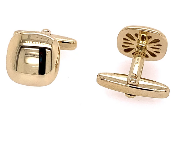 Breuning Gold Rounded Edge Cufflinks