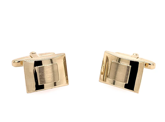 Breuning Gold Finish Cufflinks