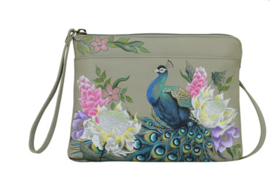 Regal Peacock Three-in-One Clutch