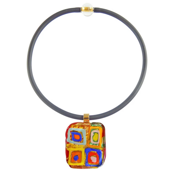 WASSILY #2 • gold-leaf murano glass necklace