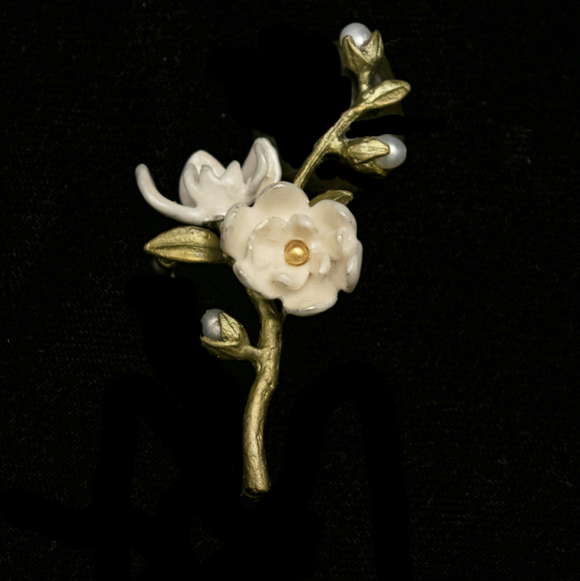 Magnolia Flower Brooch