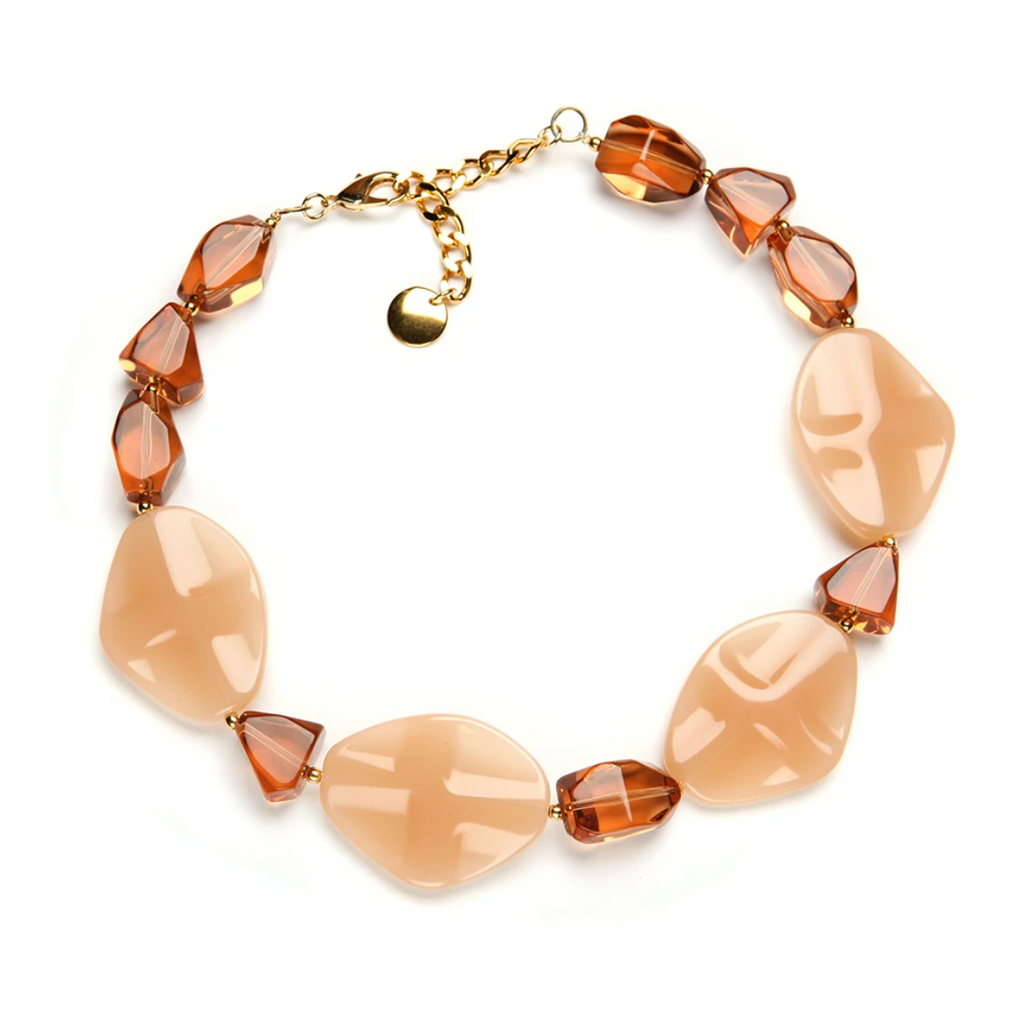 Atoli Resin Necklace in Maple