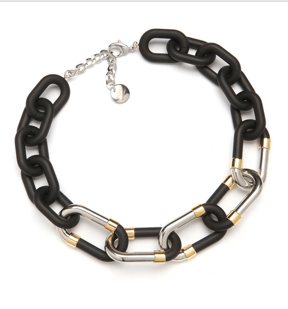 Monique Resin Necklace Matte Black