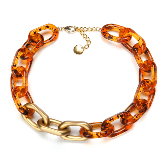 Yachting Resin Necklace Amber