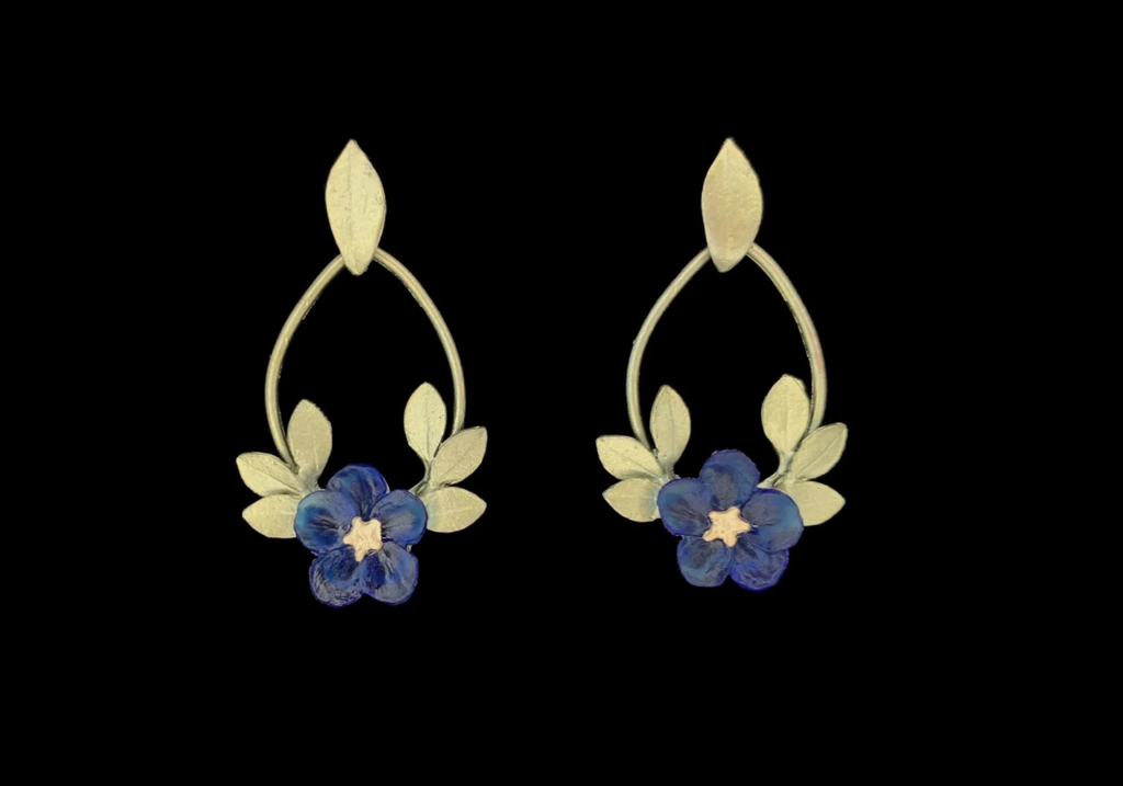 Blue Violet Earrings - Oval Post