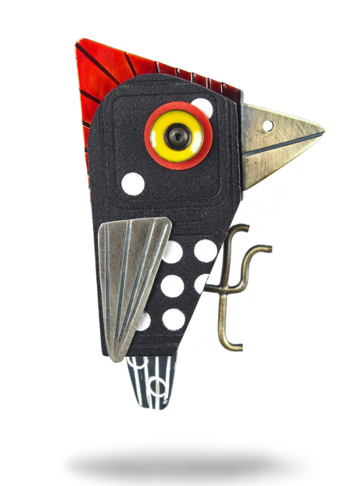 Woodpecker Brooch