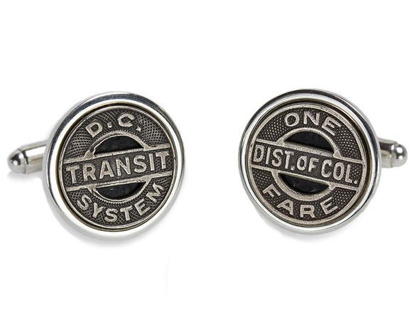 Washington D.C. Transit Token Cufflinks