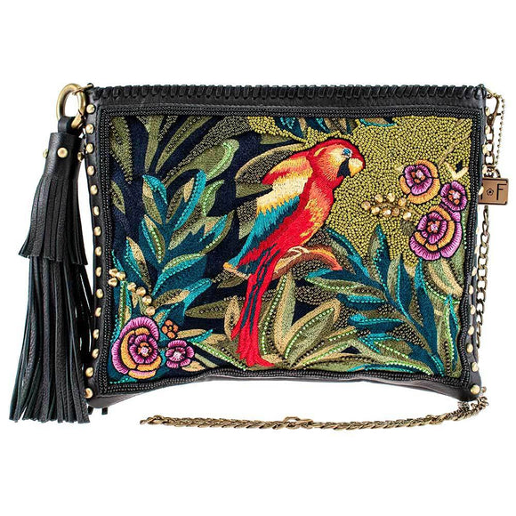 Costa Rica Embellished Leather Crossbody Handbag
