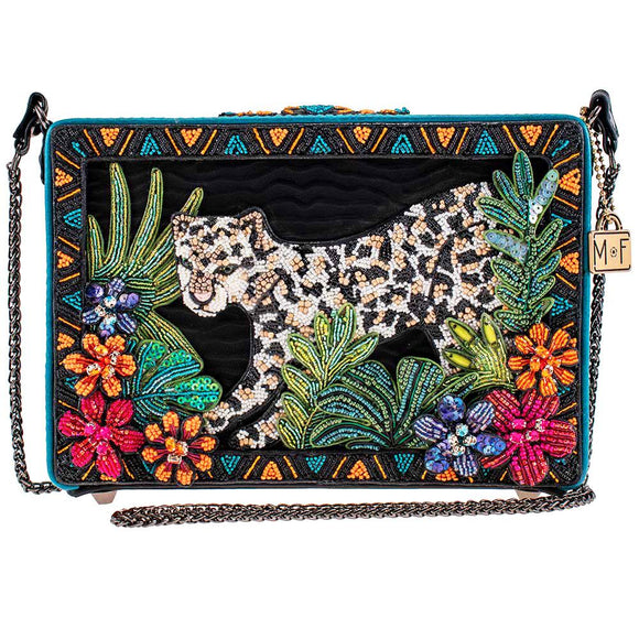 Into the Wild Beaded Crossbody Leopard Handbag