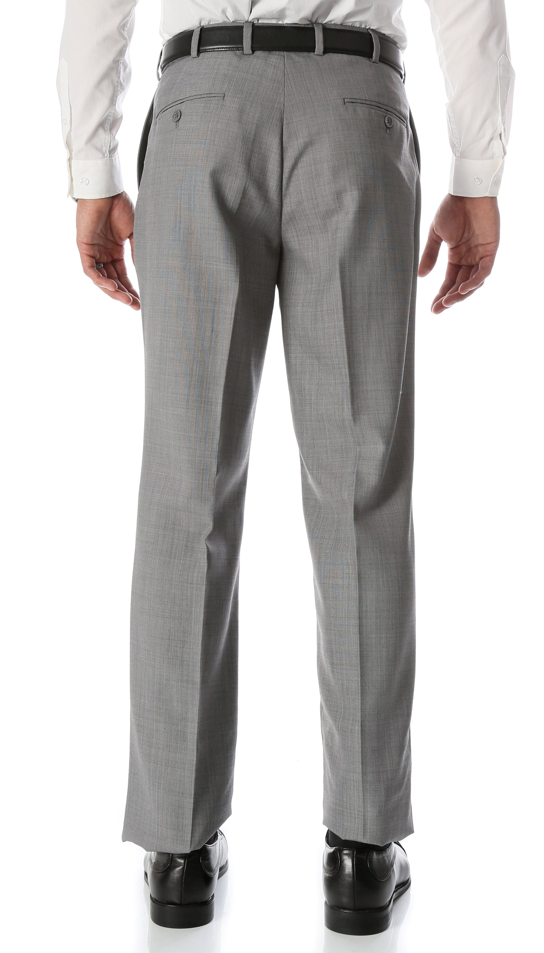 Ben Light Grey Wool Blend Modern Fit Traveler Dress Pants - Giorgio's Menswear