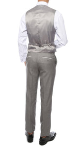 Celio Grey Slim Fit 3pc Tuxedo - Giorgio's Menswear