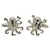 Silvertone Novelty Octopus Cufflinks with Jewelry Box - Ferrecci USA