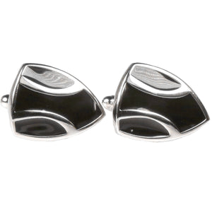 Silvertone Novelty Shield Cufflinks with Jewelry Box - Giorgio's Menswear