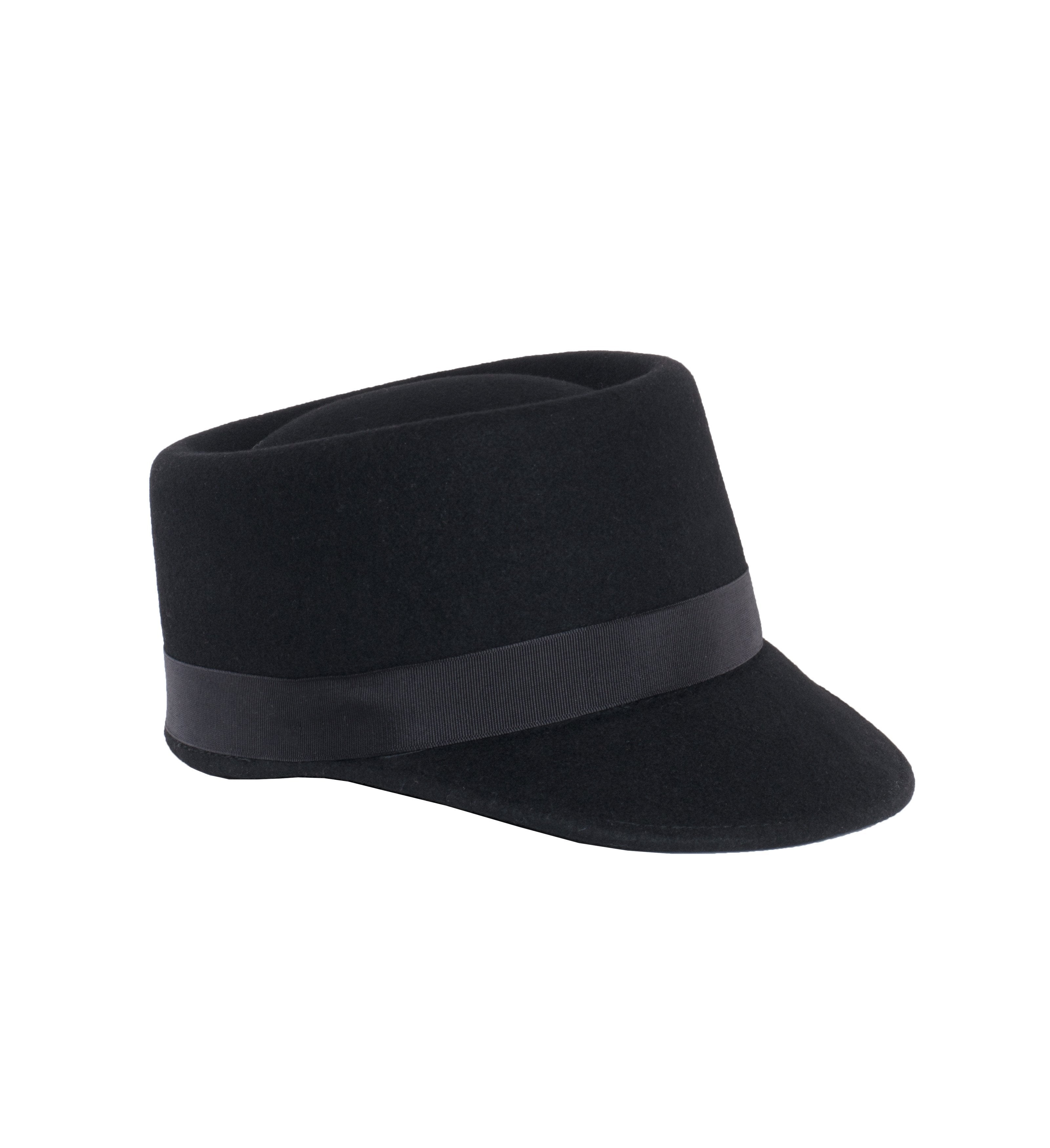 Modern Conductor Train Engineer Hat - Black - Giorgio's Menswear