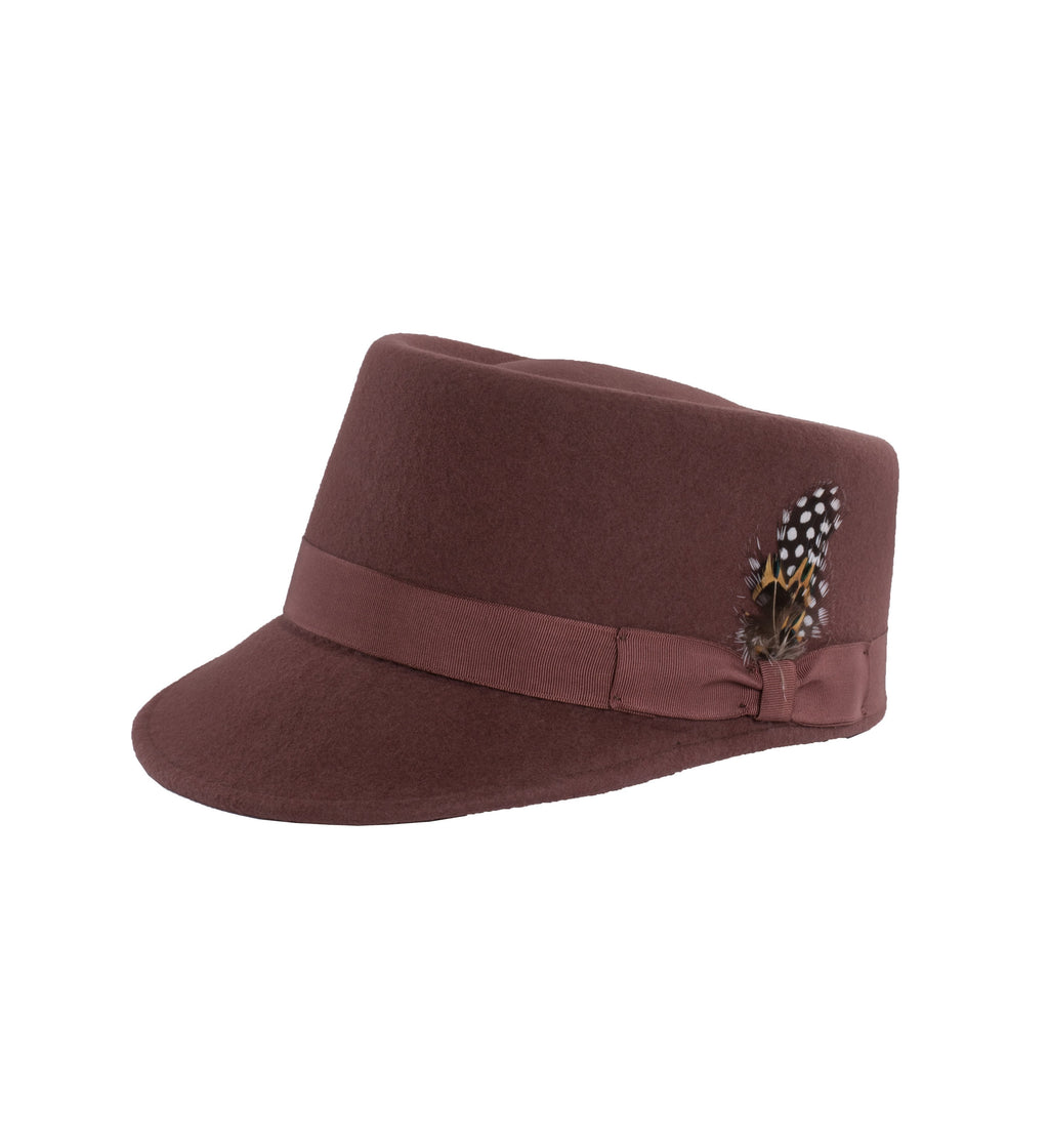 Modern Conductor Train Engineer Hat - Rust - Giorgio's Menswear