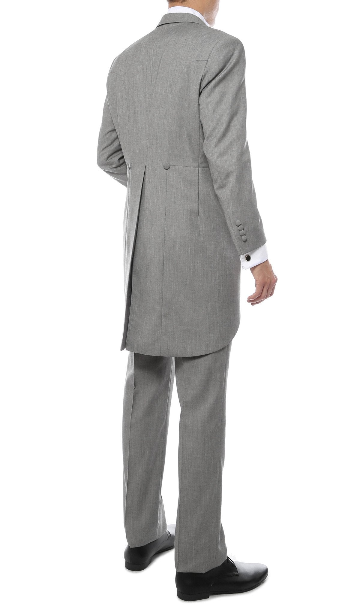 Mens Grey Cutaway Regular Fit Tuxedo 2pc Suit - Giorgio's Menswear
