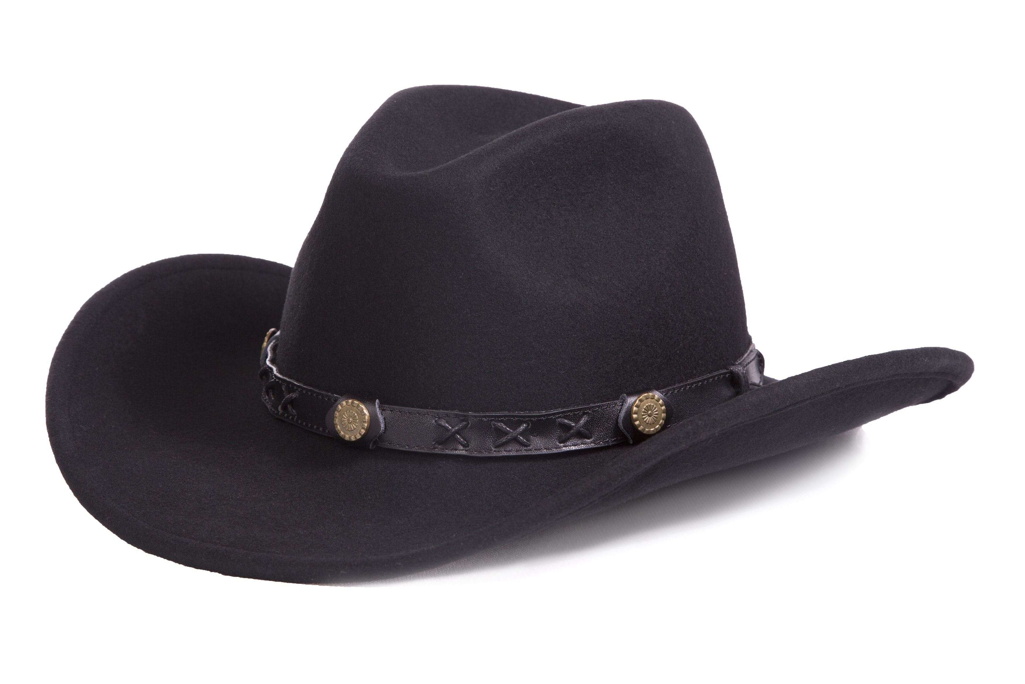 Black Crushable Wool Western Dakota Cowboy Hat - Giorgio's Menswear