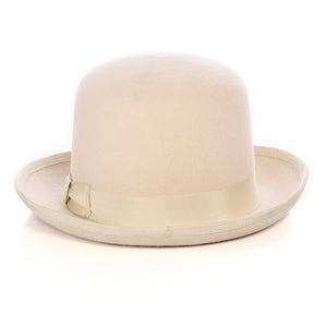 Premium Wool Off-White Derby Bowler Hat - Giorgio's Menswear