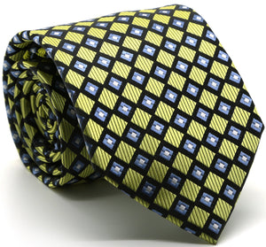 Mens Dads Classic Green Geometric Pattern Business Casual Necktie & Hanky Set E-9 - Giorgio's Menswear