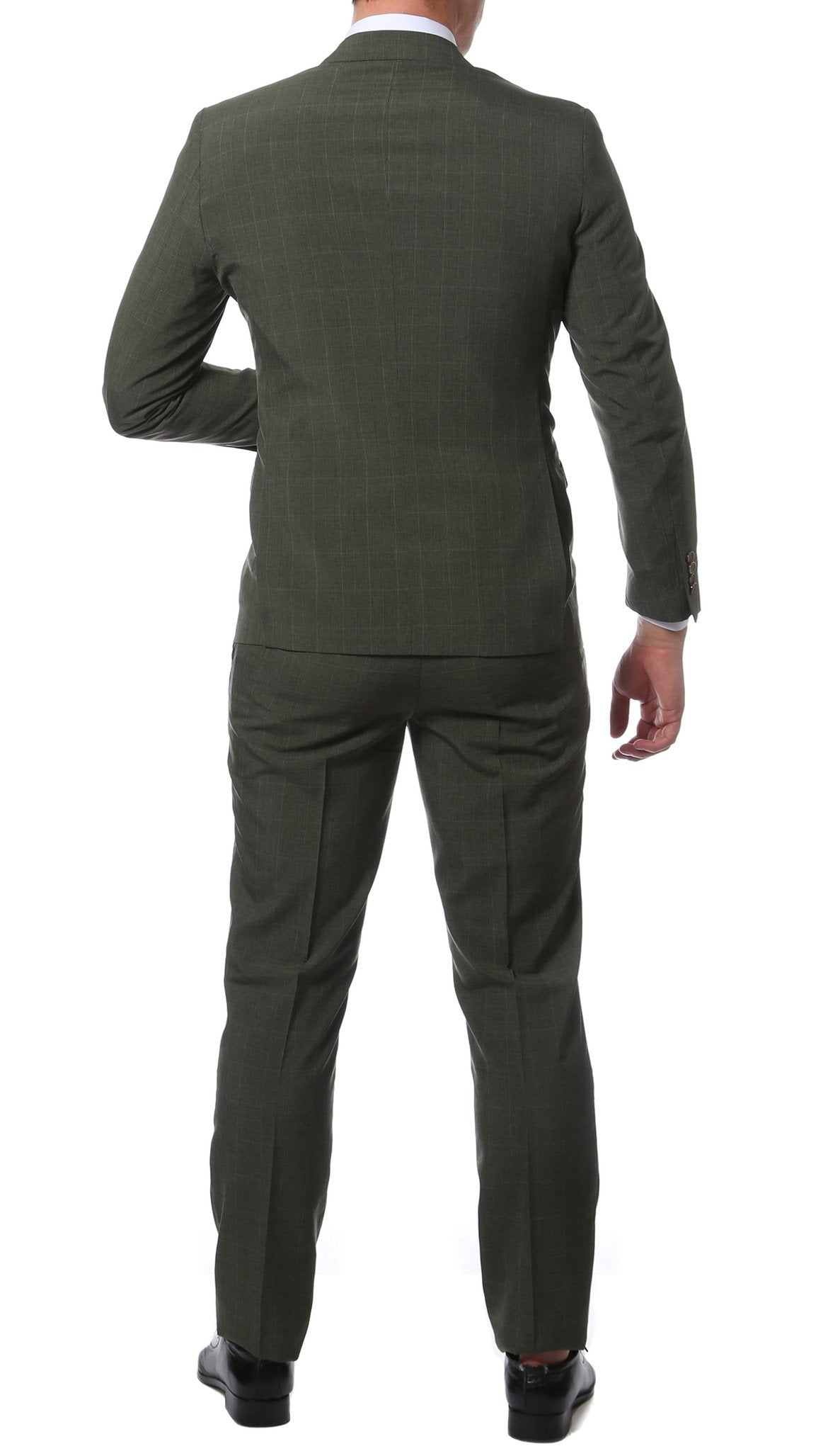 Etro Green Glen Plaid Slim Fit 2pc Suit - Giorgio's Menswear