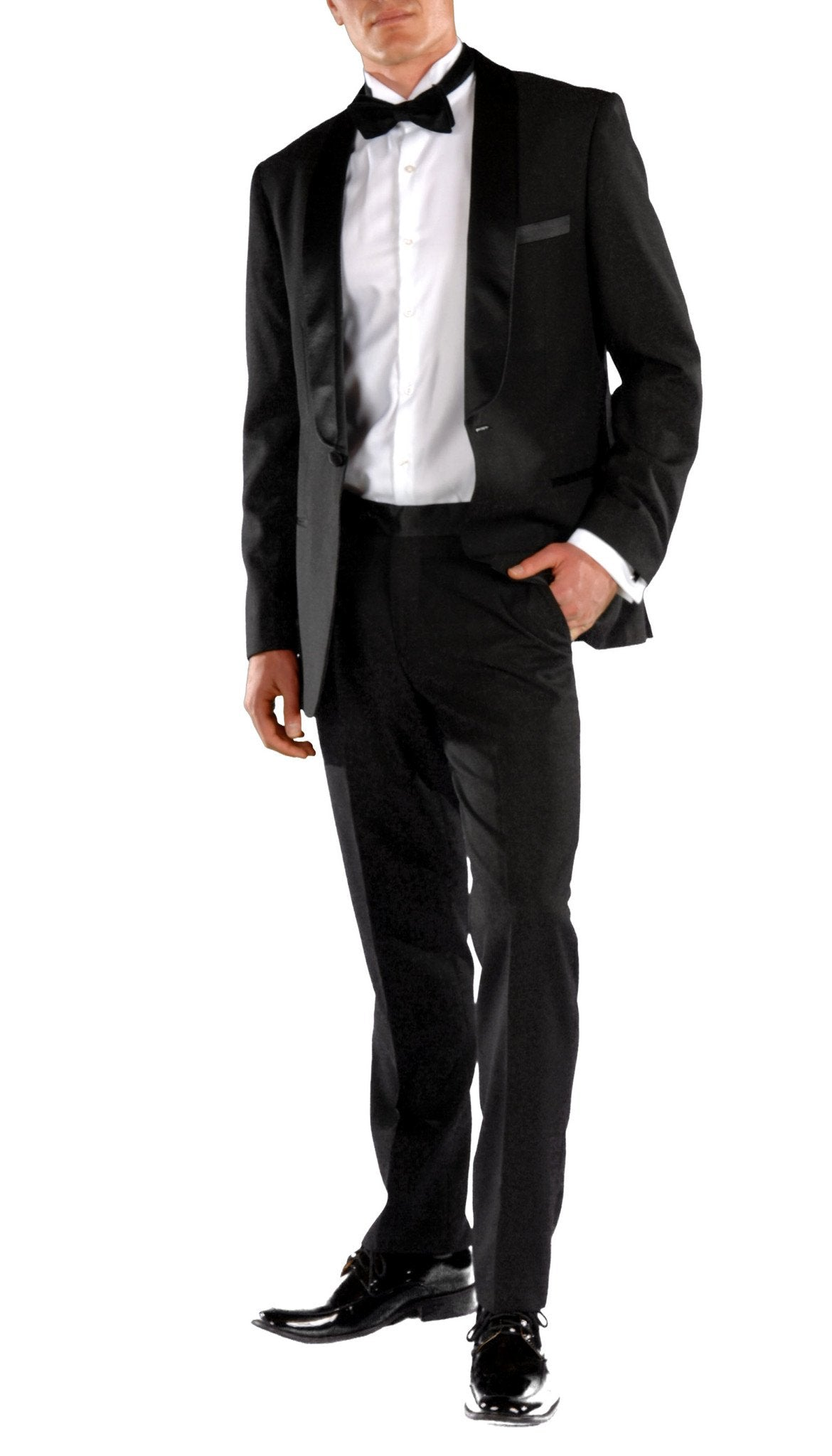 Falls Slim Fit 2pc Tuxedo - Black - Giorgio's Menswear