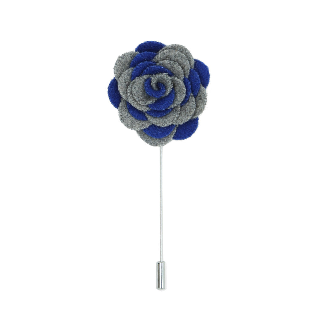 Florance 24 Grey Blue Lapel Pin - Giorgio's Menswear