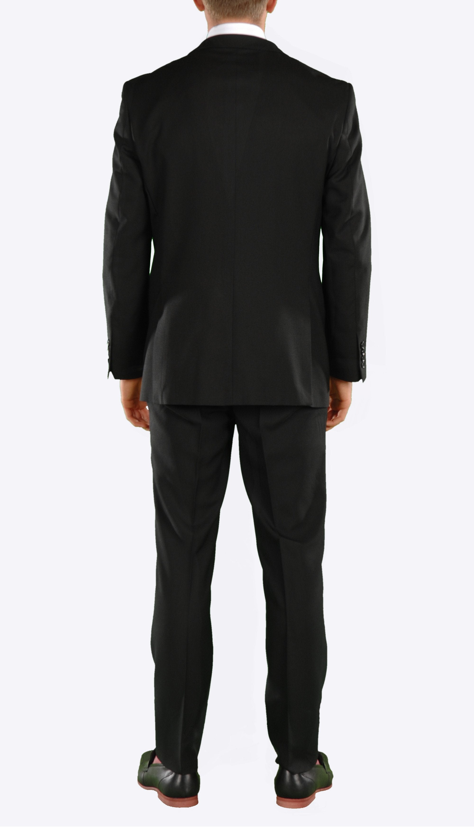 Black Regular Fit Suit - 2PC - FORD - Ferrecci USA