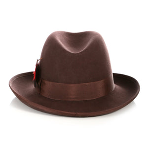 Ferrecci Premium Brown Godfather Hat - Giorgio's Menswear