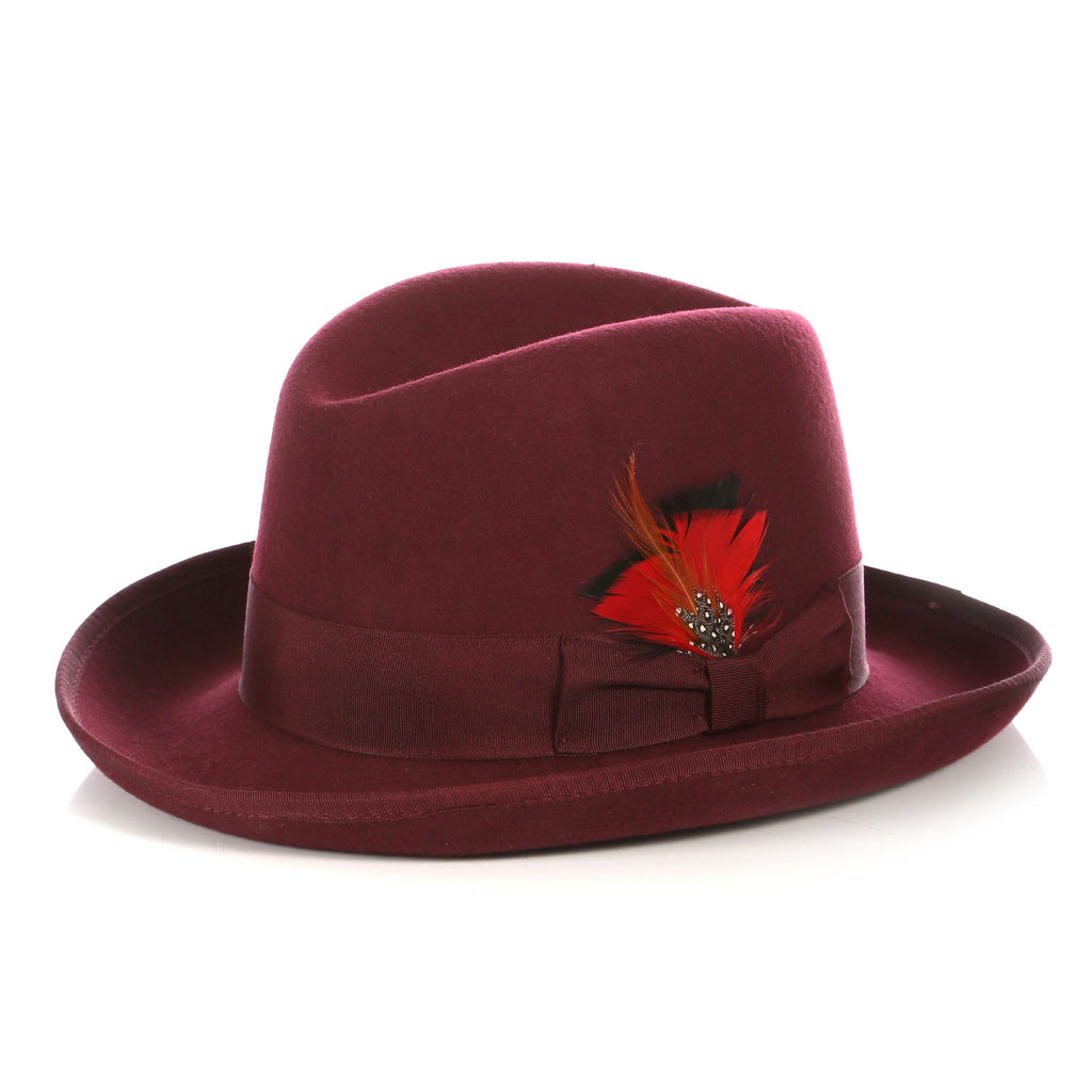 Ferrecci Premium Burgundy Godfather Hat - Giorgio's Menswear