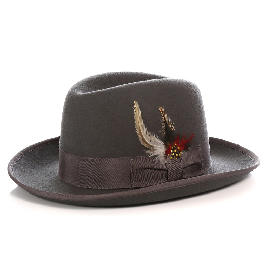 Ferrecci Premium Charcoal Godfather Hat - Giorgio's Menswear