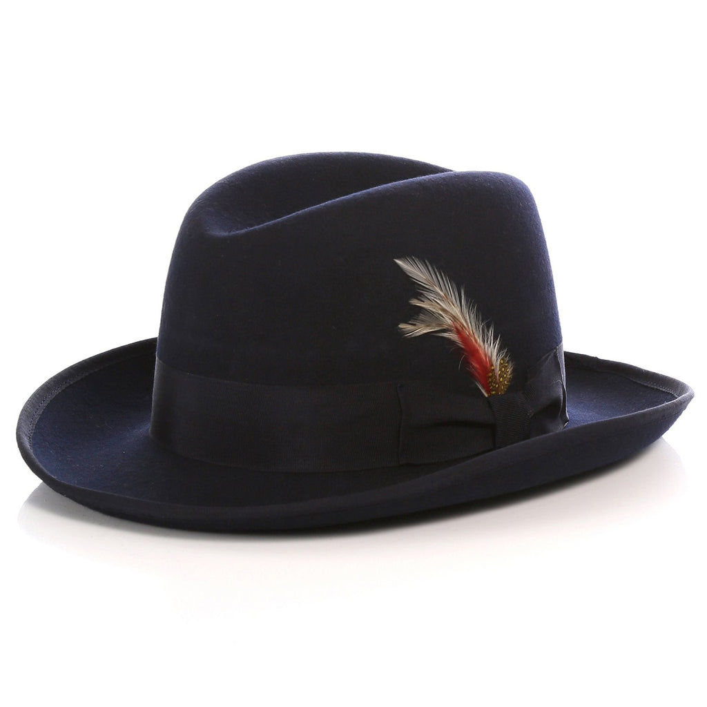 Ferrecci Premium Navy Godfather Hat - Giorgio's Menswear