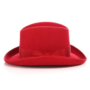 Ferrecci Wool Felt homburg Red Godfather Hat - Giorgio's Menswear