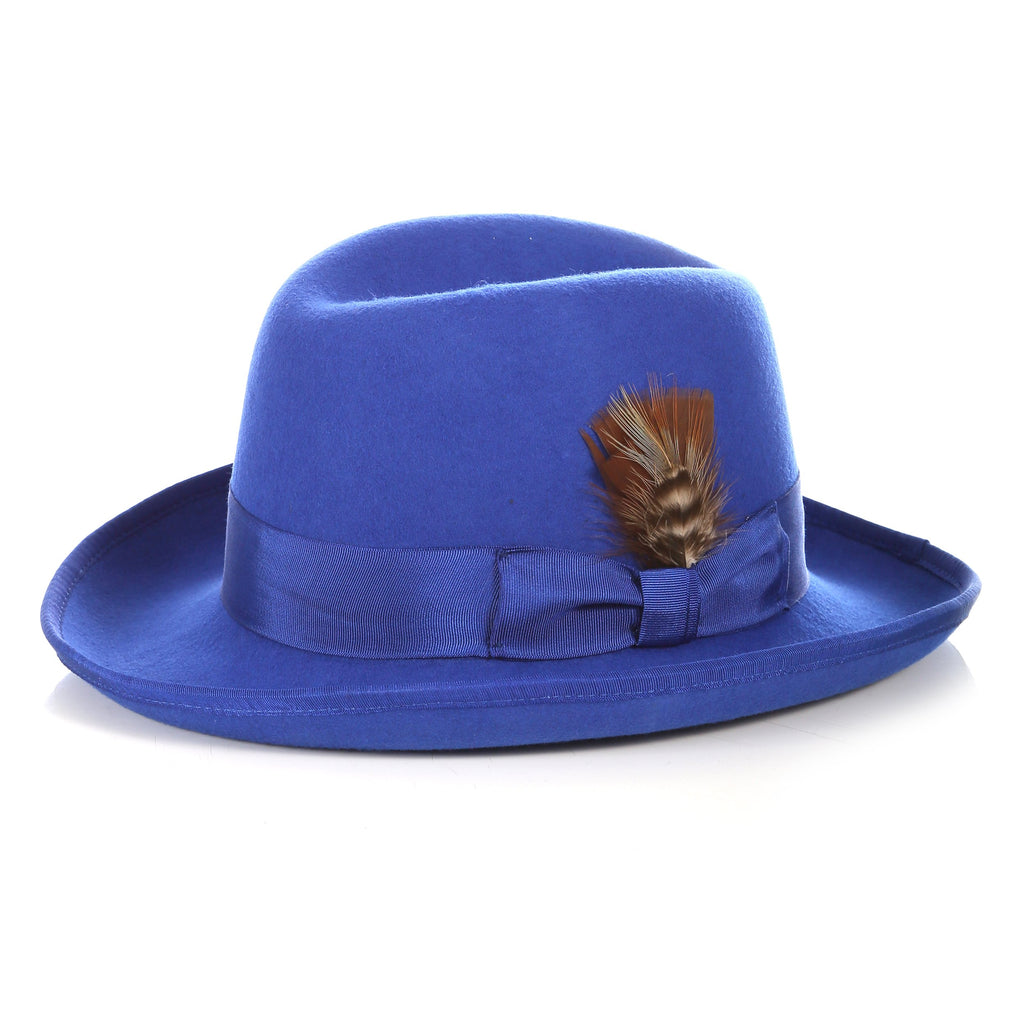 Ferrecci Premium Royal Blue Godfather Hat - Giorgio's Menswear