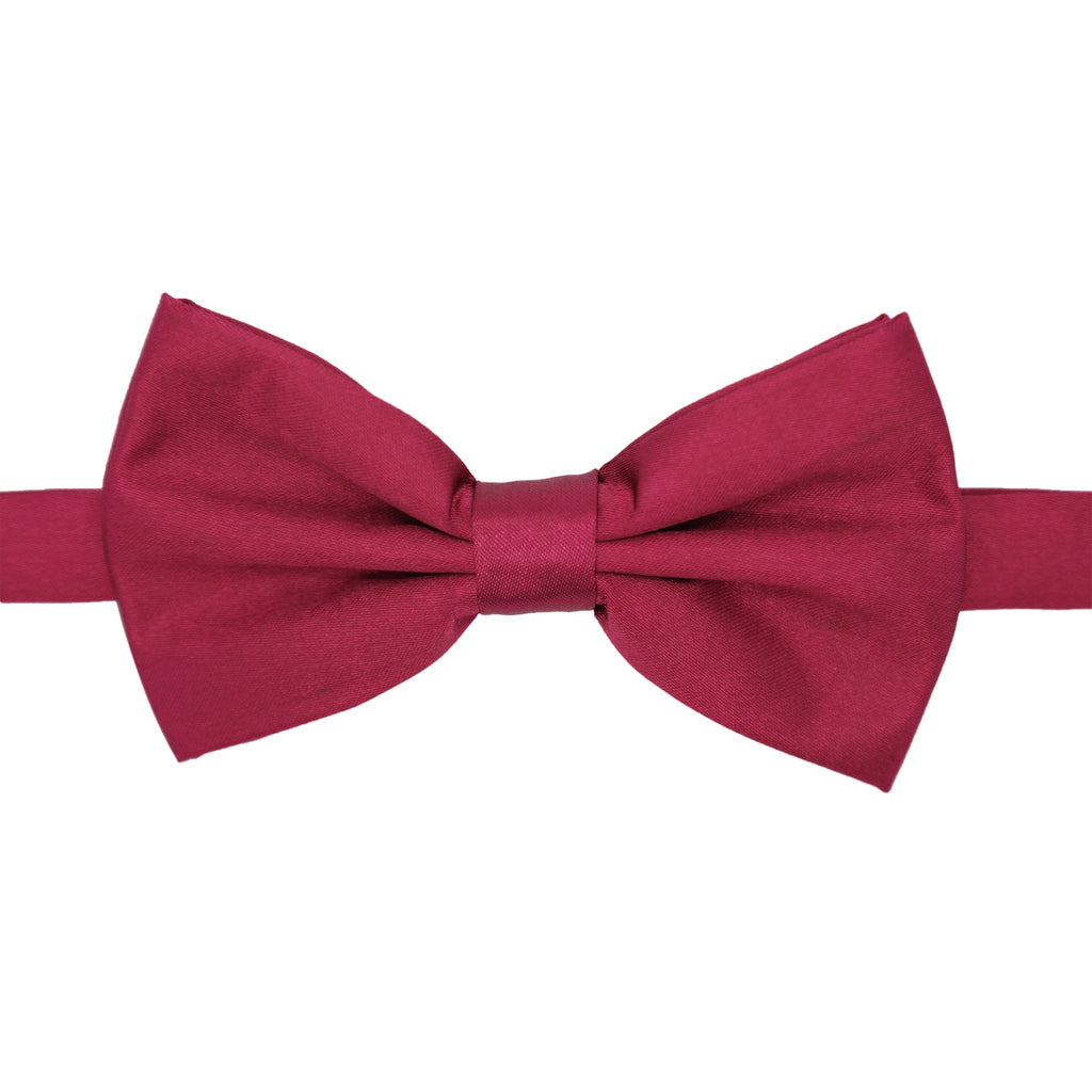Gia Burgundy Satine Adjustable Bowtie - Giorgio's Menswear