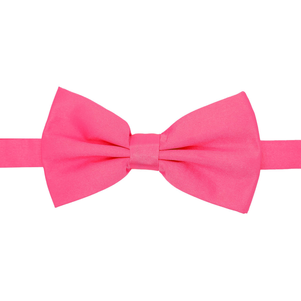 Gia Fuchsia Satine Adjustable Bowtie - Giorgio's Menswear