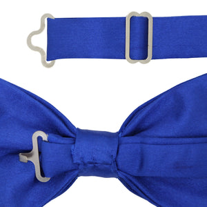 Gia Royal Blue Satine Adjustable Bowtie - Giorgio's Menswear