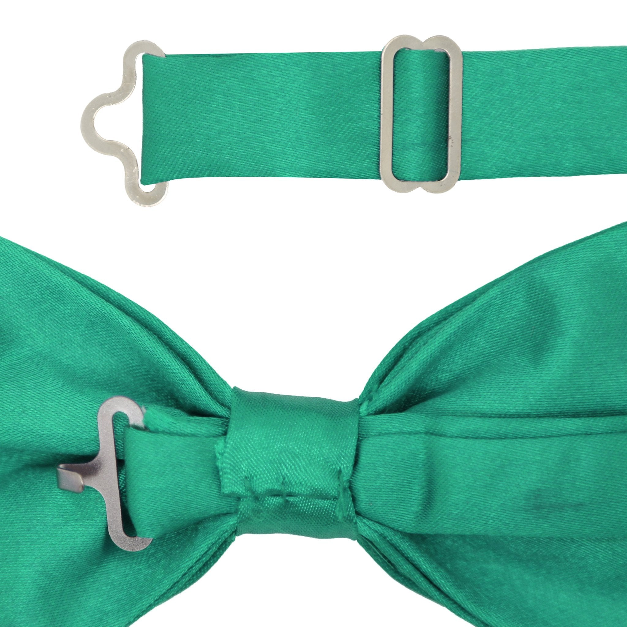 Gia Teal Satine Adjustable Bowtie - Giorgio's Menswear