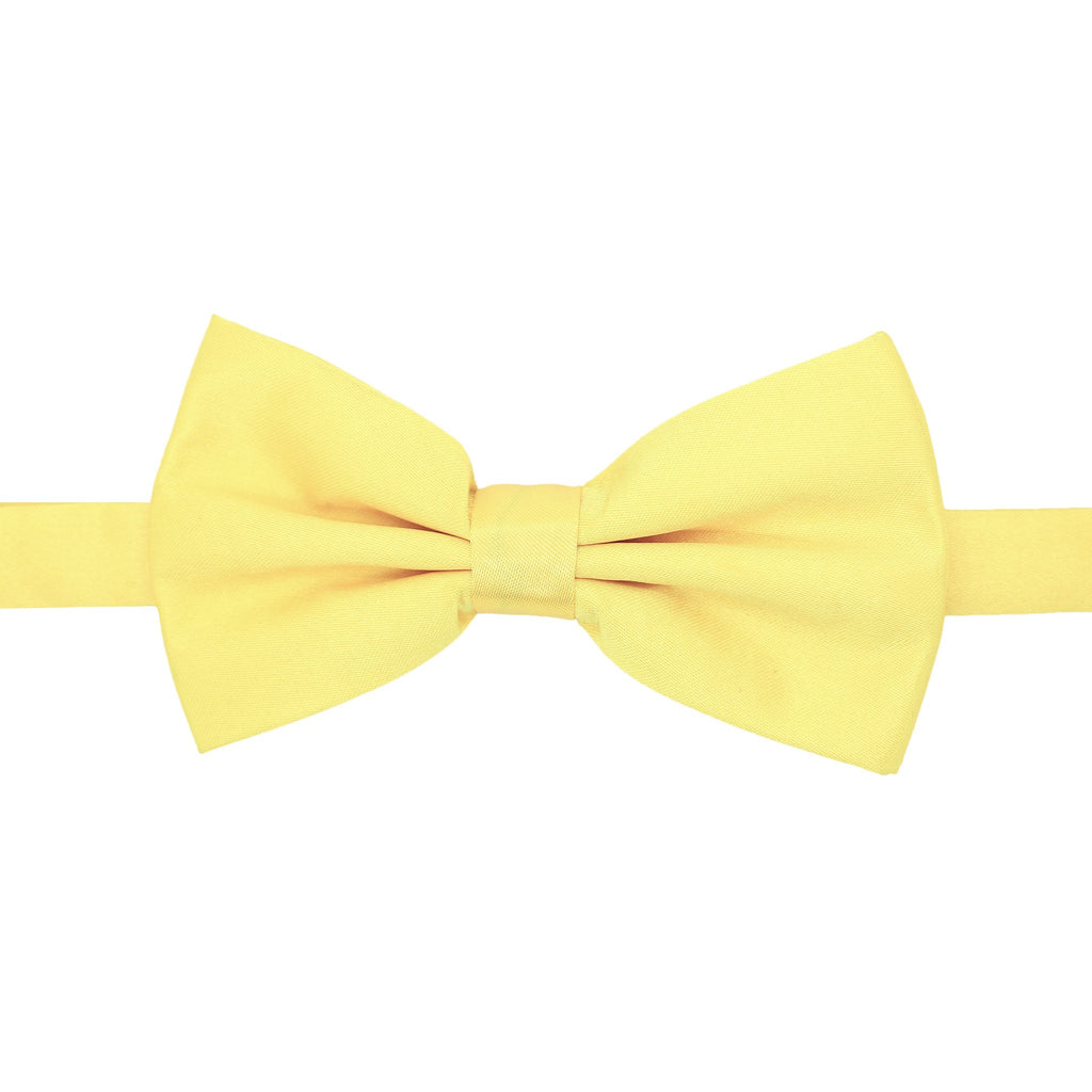 Gia Yellow Satine Adjustable Bowtie - Giorgio's Menswear