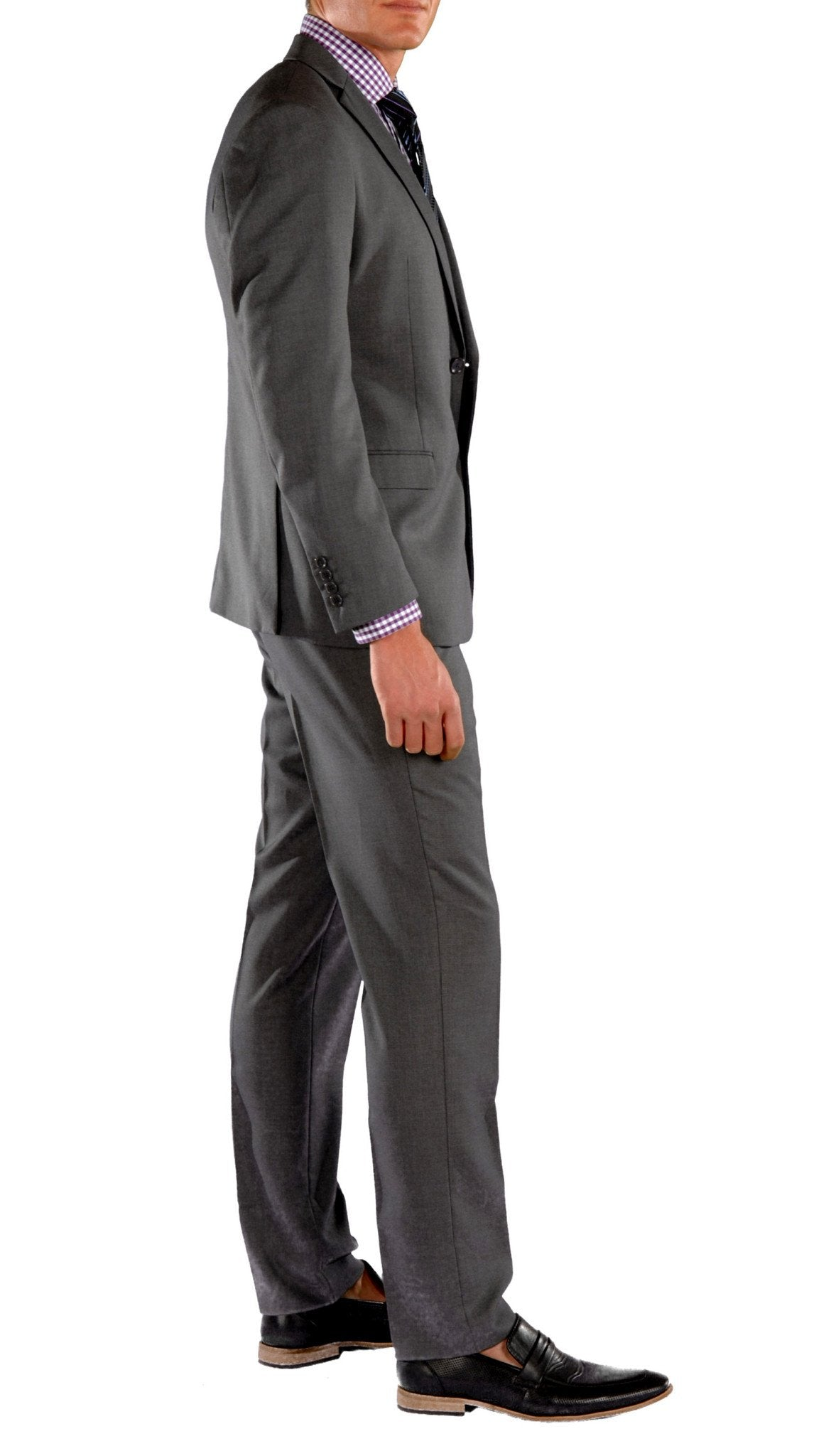Charcoal Slim Fit Suit - 2PC - HART - Giorgio's Menswear