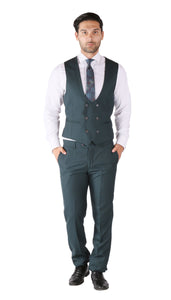 Hart 3pc Slim Fit Teal Suit - Giorgio's Menswear