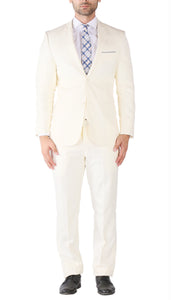 Hart 3pc Slim Fit Winter White Suit - Giorgio's Menswear