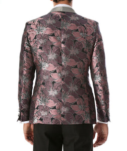 Men's Hugo Rose Floral Modern Fit Shawl Collar Tuxedo Blazer - Giorgio's Menswear