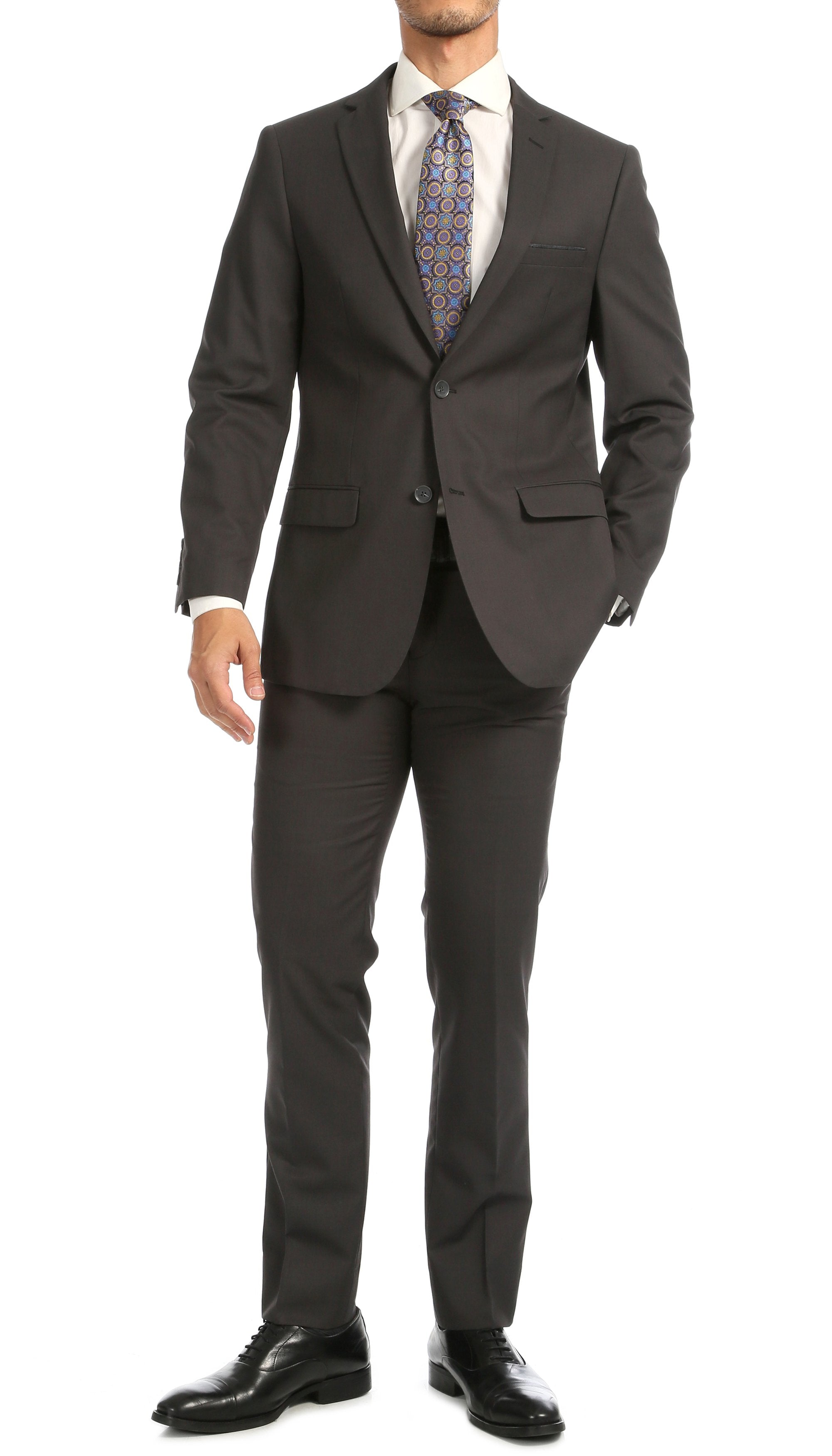 Windsor Charcoal Slim Fit 2pc Suit - Giorgio's Menswear