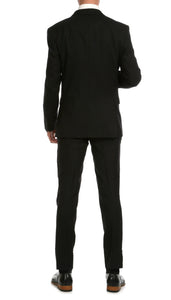 Mason Black Men's Premium 2pc Premium Wool Slim Fit Suit - Giorgio's Menswear