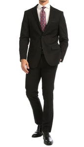 Windsor Black Slim Fit 2pc Suit - Giorgio's Menswear