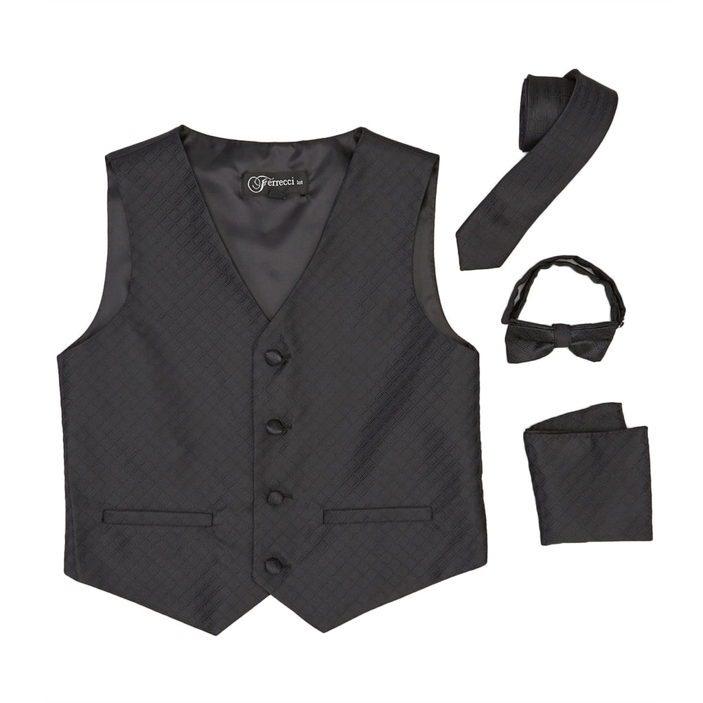 Premium Boys Black Diamond Vest 300 Set - Giorgio's Menswear