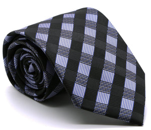 Mens Dads Classic Navy Stripe Pattern Business Casual Necktie & Hanky Set L-6 - Giorgio's Menswear