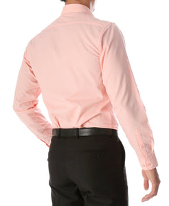 Leo Mens Pink Slim Fit Cotton Dress Shirt - Giorgio's Menswear